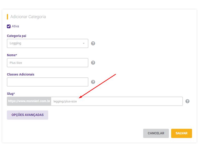 Vamos criar uma URL para a página do produto